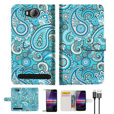 Seamless pattern with paisley Wallet TPU Case Cover For HUAWEI Y3 II 2 -- A022