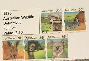 Australian Postage Stamp Used (1986) Definitive Australian Wildlife