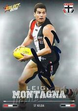 ✺Signed✺ 2016 ST KILDA SAINTS AFL Card LEIGH MONTAGNA