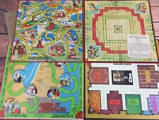 Lot of 4 Vintage Board Games (Boards Only) Lone Ranger Uncle Wiggily Jerusalem