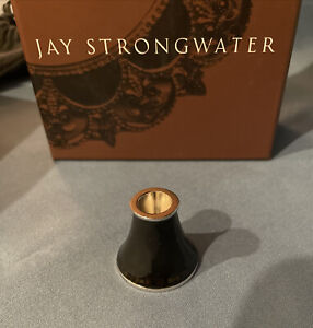 Jay Strongwater Wine Stopper Black Stand