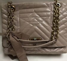 Lanvin Gray Quilted Medium Happy Bag