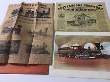 Chattanooga Choo Choo Newspaper+ Postcard Plus Paper On Trains
