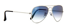 Ray-Ban aviator new sunglasses for men, women blue gradient/ silver RB3025 62 mm