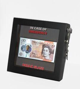 CHRISTMAS GIFT In Case Of Emergency Break Glass Box Frame Money/Voucher/Lottery