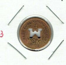 Garrison, West Virginia Coal Scrip Token WEBB COAL MINING CO.  1¢