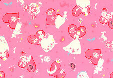 Cinderella on Pink BT yard cotton canvas Lecien Japan