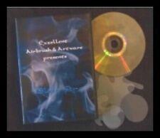 Airbrush Schablonen mit DVD Blue Fire