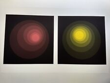 Neil Korpi - PINK-Brown  Yellow Op Art Hand Signed Color Serigraph  #44/60