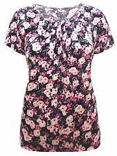 Marks and Spencer Women's Stretch Floral Hip Length Tops & Shirts