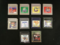 Nintendo Game Boy 10 Games Bundle -Pokemon, Yu-Gi-Oh!, Tetris Card GB- JP Import