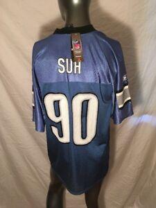 Reebok NFL Team Apparel Detroit Lions #90 Ndamukong Suh Men's Jersey Sz M. *NWT*
