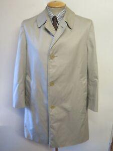 """Genuine Vintage Aquascutum Beige Raincoat Coat Mac Size M 38"""" R Euro 48 R"""