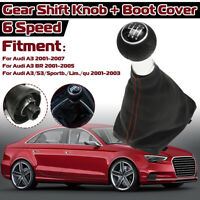 For Audi A3 S3 Sportb Lim 01-03 6 Speed Gear Shift Knob Gaitor Boot Cover A