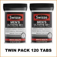 Swisse Men's Ultivite 50+ 2x60 Tablets | Twin Pack | 120 Tabs | 4 Months Supply