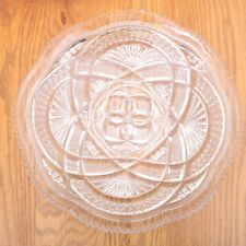 Clear Glass Gordian Knot Pattern Round Plate