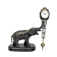 German Style Junghans Brass Elephant Figure Swinging Swinger Clock
