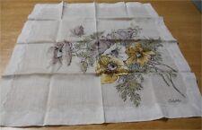 Vintage Colette Hand Painted Cotton Hankie (Floral)1