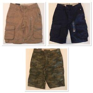 NWT GAP Boys Cargo Shorts Sz 5 Slim-5-6-7-8-12-14-16 Beige Navy Camo