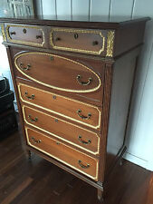 Beautiful Highly Detailed tall chest of draws, excellent condition LOOK