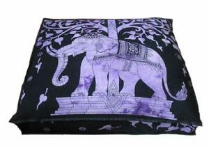 """Mandala Ottoman Indien Square 35"""" Seating Cover Pouf Cushion Floor Pillow Case"""