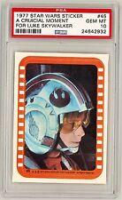 1977 Topps Star Wars sticker #45 PSA 10