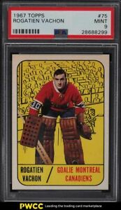 1967 Topps Hockey Rogatien Vachon ROOKIE RC #75 PSA 9 MINT