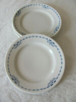 Buffalo China 1917 Princeton-Blue & White Design- Bread Plate(s)- Up to 3 Avail