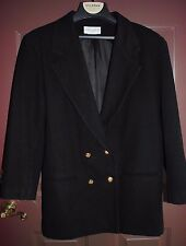 Casual Corner Women's Black Double Breasted Lined Blazer Jacket Size 10