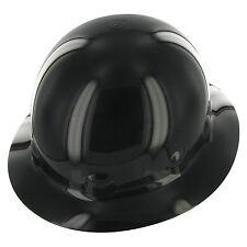 Fibre Metal Black Full Brim Thermoplastic Hard Hat 8-point Ratchet Suspension