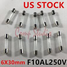 10pcs/lot 10A 250V Fast Blow Fuse Glass Tube Quick Blow 6X30mm F10AL250V Fuses