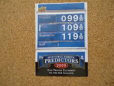 2009 Upper Deck Historic Firsts Predictors Insert Card #HP-2 Gas Prices Plummet