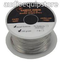 CARDAS AUDIO Soldering Wire Silver Quad Eutectic Solder w Rosin Flux 1/4 lb Roll
