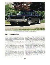 1973 Pontiac GTO Article - Must See !!