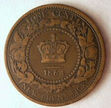1864 NEW BRUNSWICK (CANADA) CENT - Very Rare Coin - Big Value - Lot #M18