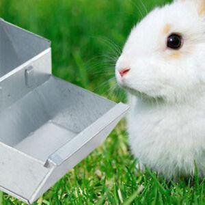 HN- 12cm Rabbit Metal Feeder Nipple Drinker Bowl Hutch Dispenser Feeding Tool Su