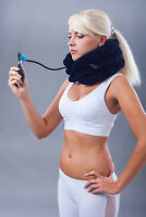 Hochwertige Aufblasbare Nackenbandage, Nackenstütze, Halsbandage, Nackenkrause