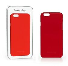 Genuine Happy Plugs Slim Case + Screen Protector For iPhone 6 4.7'' & 6s Red NEW