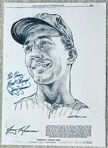 JERRY KOOSMAN HAND SIGNED AUTOGRAPH NEW YORK DAILY NEWS LITHOGRAPH COA METS