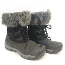 Keen Dry Warm Women Boot Helena Waterproof Sz 9 M Black Leather Mid Insulated