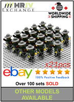 21 Minifigures Green Dragon Army Knights Crossbow Castle Toys LE GO Compatible U