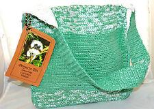 Proyecto Titi Green & White Mochilla Shoulder Bag Purse Handmade In Columbia NWT