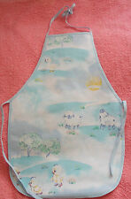 New Children's water proof apron with chicks, rabbits, ducklings, lambs, age 1-4