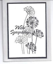 Card Sympathy Handmade Single Grey