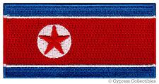 NORTH KOREA FLAG embroidered iron-on PATCH KOREAN DPRK KING JONG UN RARE