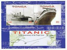 Tonga 100th Anniversary of the Cruise Ship Titanic Small Souvenir Sheet