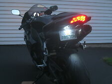 Motorcycle White Led license plate black pod lights sport bikes & Car tag light!