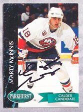 Marty McGinnis New York Islanders 1992-93 Parkhurst Signed Card