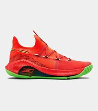 Under Armour Stephen Curry 6 VI Roaracle Rocket Red Electricity Green 607 Orange
