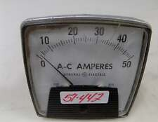 GENERAL ELECTRIC A-C AMPERES METER 5-50A